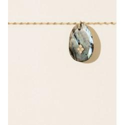 Collier GAÏA N°2 LABRADORITE Pascale Monvoisin