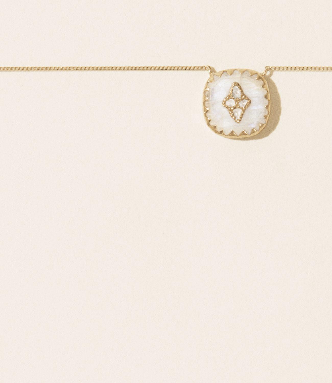 Pascale Monvoisin Necklace PIERROT N°2 MOONSTONE