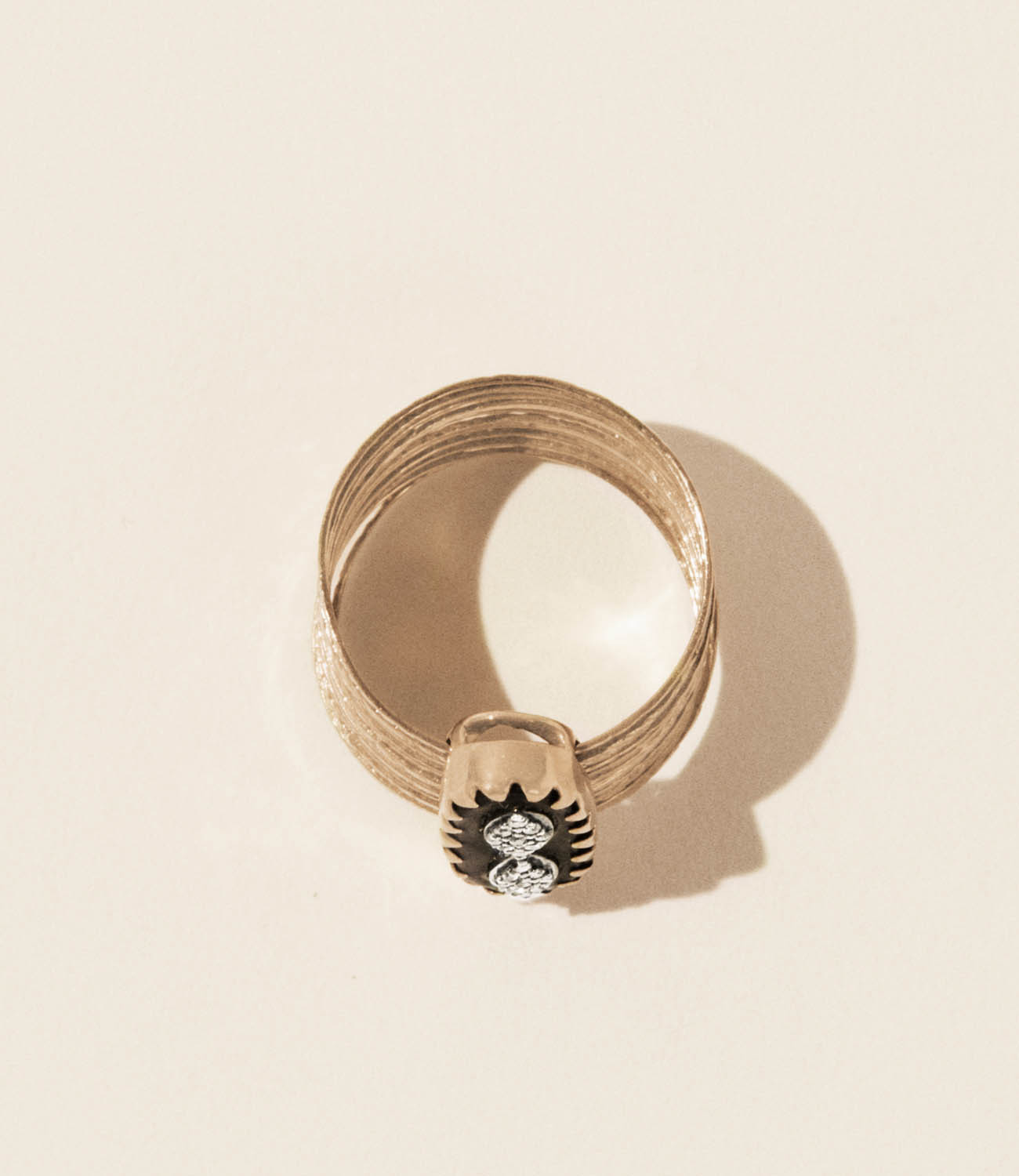 Pascale Monvoisin Ring BOWIE N°1 BLACK DIAMOND
