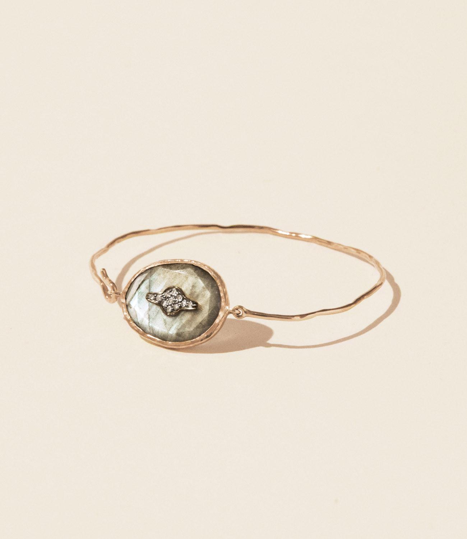Bracelet GARANCE N°2 LABRADORITE Pascale Monvoisin