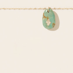 Collier GAIA N°1 TURQUOISE Pascale Monvoisin