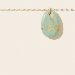 Collier GAIA N°2 TURQUOISE Pascale Monvoisin