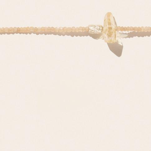 TAYLOR N°1 MOONSTONE PEACH Pascale Monvoisin Jewelry
