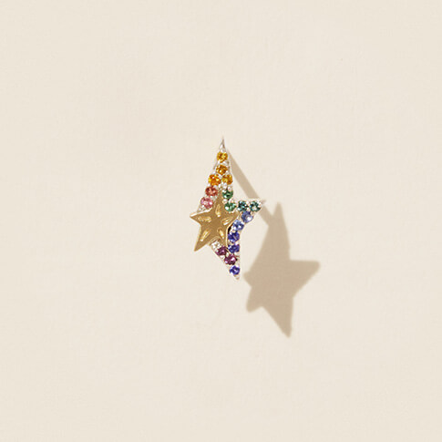 SINGLE EARRING VARDA RAINBOW